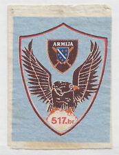BOSNIA ARMY   517  BRIGADE OF CAZIN  extremely rare  sleeve patch