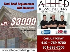 Total Roof Replacement With Removal $3999
