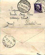 REGNO-IMPERIALE 50c(251) su bustina FIESSO D'ARTICO- Padola 19.8.1939