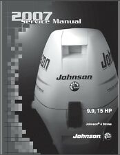 2007 and up Johnson 9.9 - 15 HP 4-Stroke Outboard Motor Service Repair Manual CD
