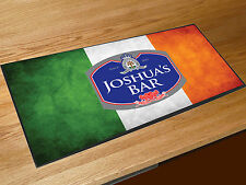 Personalised Irish Flag beer label bar runner Pubs Clubs & Cocktail Bars