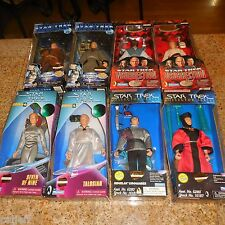 "8 LOT PLAYMATES 9"" FIGURE STAR TREK SEVEN OF NINE TALOSIAN ROMULAN WORF ANIJ Q"
