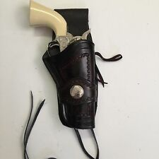 "Western 3"" Drop Colt SAA 43/4"" Barrel Ruger Vaquero,Uberti  Leather Holster"