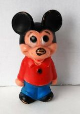 Vintage Mickey Mouse Walt Disney Doll Toy Plastic Figure Made in Hong Kong 5.5""