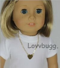 Lovvbugg Heart Necklace for American Girl Doll Clothes Love Jewelry Accessories