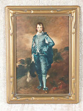 "Vtg ""The Blue Boy"" Gainsborough, hand colored in oil by Mary-Frances Schreiber"