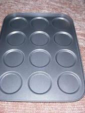 12 Hole Whoopie Pie & Macaroon Meringue tin Pan Tray 35 x 27 x 1.75 cm NON STICK