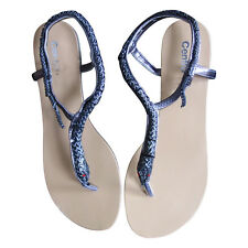 Damenschuhe Sandaletten Sandale Schlangen Beige EUR 37 women shoes