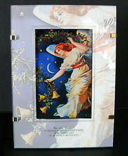 Hallmark Christmas Framed Print Midnight Angel 1997 USPS Collectible Holidays
