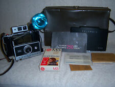 Vintage Polaroid Automatic 250 Land Camera w/ Carry Case & Extras!