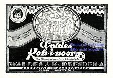 Pulsador Koh-i-noor bosque Dresden publicitarias de 1920 kohinoor publicidad botón +