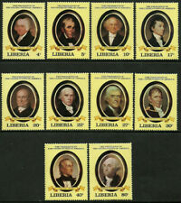 Liberia #901-10 Mint Never Hinged Set - US Presidents