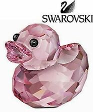 Swarovski Colored Crystal Figurine Lovlots Happy Duck - Rosy Ruby #5155723 New
