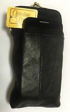 Black Leather Cigarette Case w/Cellphone Pouch-Fits KINGS/100s *SALE*