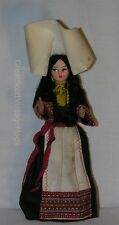 "Vintage Croatia Bride Girl Costume Souvenir Doll 7.5"" Tall Dubrovnik"