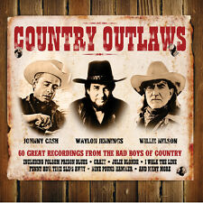 Country Outlaws 60 SONG Johnny Cash WAYLON JENNINGS Willie Nelson BEST New 3 CD