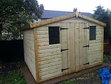 GARDEN SHED TANALISED HEAVY DUTY 10X6 REVERSE APEX 13MM T&G.  3X2.