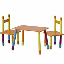 Kids Wooden Furniture Table And Chair Set High  Colourful Children