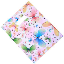 500pcs New Wholesale Mixed Color Butterfly Circle Pattern Carrier Plastic Bags D