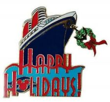 Disney Pin: Disney Cruise Line Happy Holidays - 2000