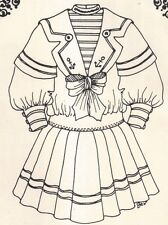 "23-24"" Period DOLL Sailor  DRESS sewing PATTERN Victorian German French 189"