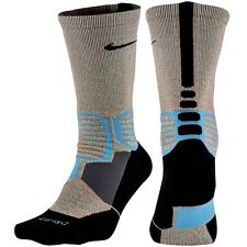 NIKE Hyper Elite Crossover Basketball Crew Socks Aqua Black Men's 6 - 8 Medium