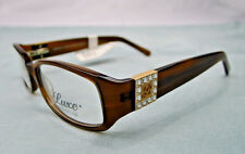 Luxe Eyeglass Frames Women Swarovski Brown WLO349 Glasses Rx-able MSRP $128 SD