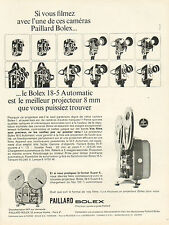 Publicité Advertising 1965  PAILLARD BOLEX caméra 18-5 Automatic 8 mm