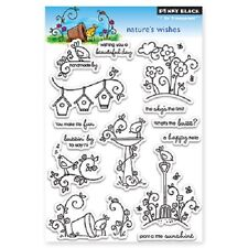 PENNY BLACK RUBBER STAMPS CLEAR NATURE'S WISHES STAMP SET