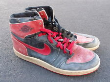 Vintage 1985 Original Nike Air Jordan I 1 Shoes 8508105Y BRED Black Red XI 14