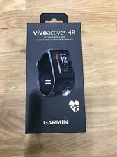 NEW Garmin VivoActive HR  Monitor Black Regular Size 010-01605-03 Watch