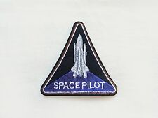 1x SPACE PILOT patch Iron On Embroidered Applique Astronaut Science rocket nasa