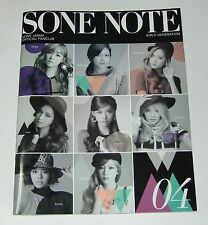 SNSD Girls' Generation JAPAN OFFICIAL FANCLUB MAGAZINE Vol.04 SONE NOTE