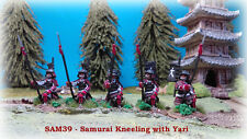 28mm  SAM39 - Samurai Kneeling with Yari x 5
