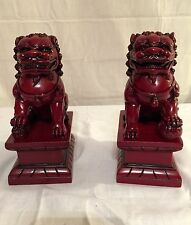 "NEW PAIR (2) CHINESE FOO DOGS IMPERIAL LIONS FUNG SHUI STATUE FIGURE 7"" TALL"