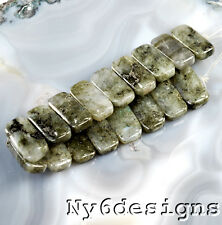 "20x10x4mm Natural Labradorite Nugget 2 holes beads 8""(LA45)a"
