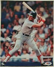 "FRED LYNN Signed ""75 AL MVP ROY"" 8x10 Canvas Photo Red Sox AUTO w/ PSA/DNA COA"