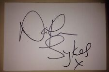 NATHAN SYKES SIGNED 6X4 WHITE CARD MUSIC AUTOGRAPH THE WANTED 100% GENUINE