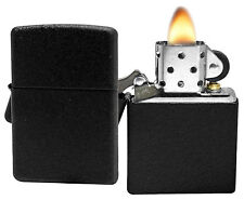 Zippo Lighter 236 Black Crackle Windproof Classic NEW