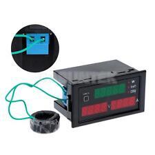Volt Power Test Meter Ampere Meter with Current Transformer AC 80-300V 100A