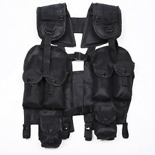 ARMY MILITARY STYLE LOAD BEARING TACTICAL COMBAT ASSAULT LBV 88 VEST BLACK