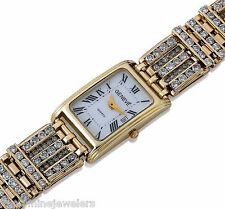 GENEVE 12.96 TCW DIAMOND 14K Yellow Gold Ladies watch White Dial Roman Numerals