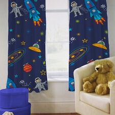"""Dormitorio De Los Niños Cortinas Chico del espacio Planetas Rocket 66 """"por 72"""" con Tiebacks"""