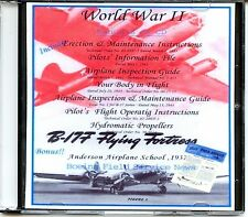 B-17 Bomber Manuals on CD