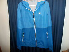 New Balance Blue Zip Front Hooded Running Track Jacket Ladies Size L NWT