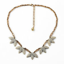 Tuileries Statement Necklaces Pendant Leaf Seed Pearl And Crystal Brand Designer
