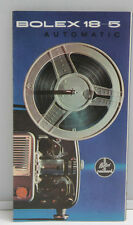 Bolex 18-5 Automatic Projector Sales Brochure Fold-Out - English - USED B100