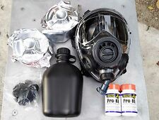 SGE 400/3 Infinity Tactical Gas Mask w/Drink Port, 2x/10yr C2A1 NBC/CBRN Filters