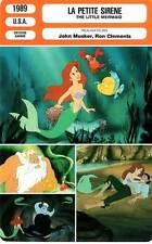 FICHE CINEMA : LA PETITE SIRENE - Musker,Clemente 1989 The Little Mermaid