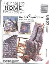 8657 UNCUT McCalls SEWING Pattern Magic Quilt Package Pillows too Home Decorate